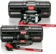 Warn 101130 Axon 3500 Wire Rope Winch Synthetic