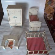 Vintage 1950and039s Four Piece Dolly Doll Play Set