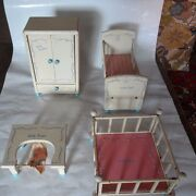 Vintage 1950's Four Piece Dolly Doll Play Set