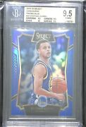 2015-16 Panini Select Concourse Blue Prizm 99 Stephen Curry Bgs 9.5