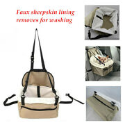 Beige Small Dog Waterproof Car Seat Pet Safety Booster Seat Foldable Bed House