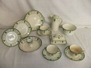C4 Pottery Royal Doulton Countess Green On Ivory Antique Early 20th Century - R5