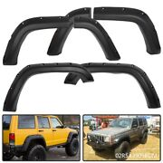 Textured Black Fender Flares Fit For Jeep Cherokee Xj4dr Sport Utility 84-2001