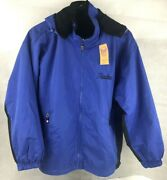 Nwt Alaskan Tongass Outdoor Outfitters Mens Black/blue Reversible Jacket Size Xs