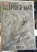 Marvel The Amazing Spider-man 1 1300 Variant Signed Stan Lee And Alex Ross 75th