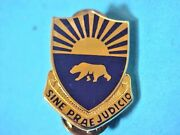 Us Army 508th Military Police Dui Di Pin Clutchback Crest Medal Badge S452