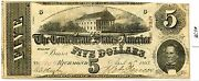 5 Confederate Note 4/6/63 678 Decent Note. Has A Small Hole And Pinholes. Care