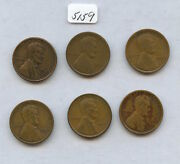 1922-d Lincoln 1c 6pcs 5159 Good Or Better. All With Some Problems.