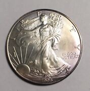 1996 Silver Eagle 8166 Very High Quality Coin With Nice Reverse Toning.