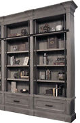 Parker House - Gramercy Park 2 Piece Museum Bookcase In Vintage Burnished Smoke