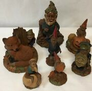 Lot Of 7 Signed Tom Clark Gnomes In Wonderful Mint Condition