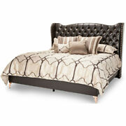 Aico Furniture - Hollywood Loft Ganache Eastern King Upholstered Bed - 9001600ek