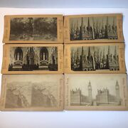 Lot Of 6 English Stereograph Stereoview Antique Pictures Of England Photo Cards