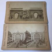 Stereograph Stereoview Antique Pictures Of Paris France Photo Cards Lot Of 2