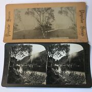 Rare Perfec Stereograph Hc Stereoview Antique Photos Of Scotland 2 Picture Cards