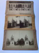 Lot Of 3 Stereograph Stereoview Antique Pictures Of Washington Dc Photo Cards