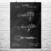 Linemans Wire Grip Poster Print Cable Puller Winch Blueprint Lineman Gift