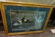Hayden Lambson Signed/numbered/framed Eagle Print Fly Fishing 208/3500 34x26