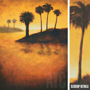 33wx43h Lagoon I By Gregory Williams -palm Trees Blue Island Choices Of Canvas