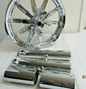 Harley Chrome Touring Front Impeller Wheel Rim W/forks And Cans 2009-2017 Sale Oem