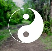 Yin And Yang [pick Color] Vinyl Decal Sticker - Laptop/car/truck/suv/window Taoism