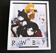 Rwby Anime Series Cast Signed + Framed 11x14 Poster Yang Ruby Blake Weiss All 4