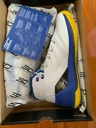 Under Armour Curry 3 Dub Nation Home Mens 1269279-102 White Blue Shoes Size 9.0