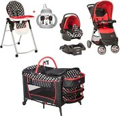 Disney Baby Combo Set Stroller With Car Seat Playard Chair Cup Travel System Set