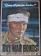 Reduced 90 All You Can Brother 1943 Wwii Poster - Rare Robert Sloan Art