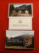2006 Pds United States Mint Westward Journey Nickel Series Coin Set With C/a