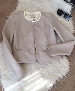 Iro Clyde Jacket Coat Long Sleeve Size 34 Authentic 100 Read Retail Over 900