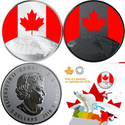 2019 This Is Canada Glow-in-dark 1/4oz Pure Silver 27mm 5 Coin Canada