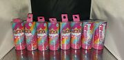 Party Popteenies Series 1 Surprise Popper With Confetti And Mini Doll - Lot Of 8
