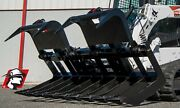 Dual Cylinder Root Grapple Bucket Heavy Duty Skid Steer Attachment For Gehl 78