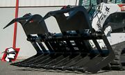 Dual Cylinder Log Grapple Bucket Track Loader Attachment For Cat 78 Wide