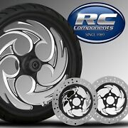 21 Savage Eclipse Wheel Tire Rotor Package By Rc Components Hd Touring