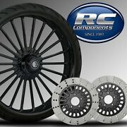 21 Illusion Black Wheel, Tire, Rotor Package By Rc Components Hd Touring