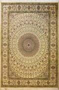 Rugstc 9x12 Senneh Pak Persian White Rug Hand-knottedfloral With Silk/wool