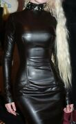 Buy Women Partywear One Piece Dresses Leather Club Wear Dresses For Ladies - 007