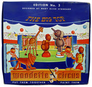 Vintage Big Top Woodette Circus 1945 Build And Paint Toys