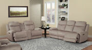 Parker Living - Bowie Doe 2 Piece Dual Reclining Sofa Set With Usb And Power He...