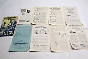 Vintage 1950's Lionel Trains Track Instruction And Operation Sheets Manuals
