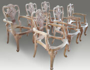 Stunning Dining Chairs Sets 81012141618 To French Polished And Upholstered
