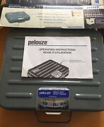 New Pelouze P250s Briefcase Style Blue Analog Shipping Scale 250 Lb Capacity
