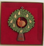 Partridge In A Pear Tree 1976 Hallmark Tree Trimmer Christmas Ornament