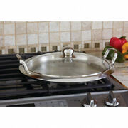Chef's Secret 12-element High-quality Stainless Steel Round Griddle With See-thr