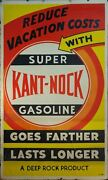 C. 1950s Reduce Vacation Costs With Super Kant Nock Gas Deep Rock Sign Poster