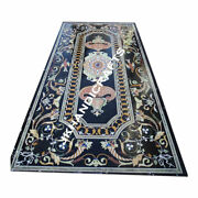 30x48 Black Marble Stunning Dining Table Top Inlay Home Furniture Decor