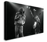 Acdc - Angus Young - Brian Johnson - Live Canvas Wall Art Print. Various Sizes