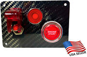 Real Carbon Fiber Switch Panel - 1 Red Light Activator Light Red Push Start